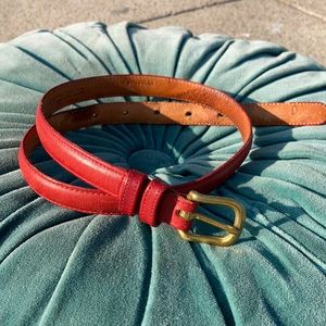 "Vintage Coach Leather Belt - Red 30"""